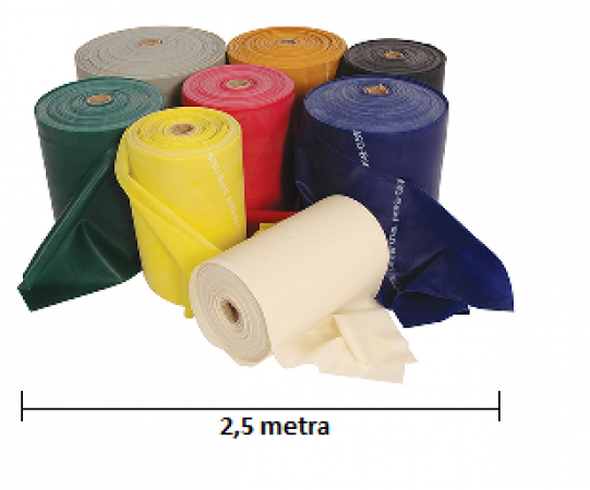 Tape rehabilitation MSD-Band 2,5m (yellow - moderate resistance) - photo nr: 1