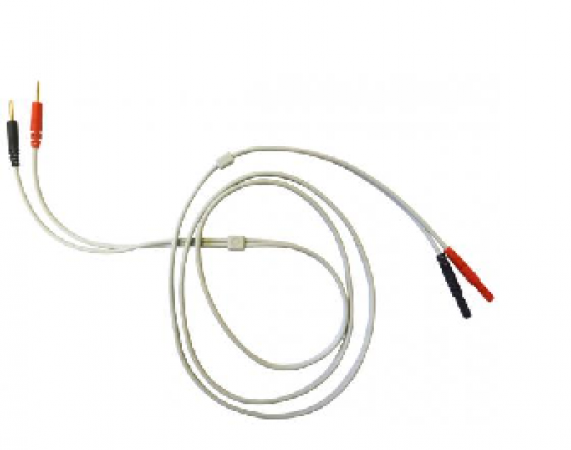1 pair of electrode c onnection cablesfor electrotherapy B t L -5000/4000  Professional, light grey, 1.2m - zdjęcie nr: 1